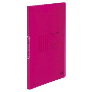 Kokuyo Color Tag A4 Display Book 20 Pocket Fixed Pink