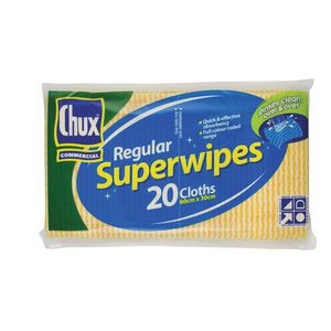 Chux Superwipes 60cm x 30cm Yellow 20 Pack