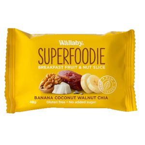 Wallaby Superfoodie Bar Banana Coconut Walnut Chia 48g