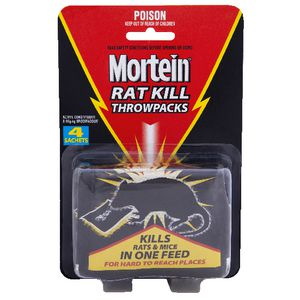 Mortein Rat Kill Throwpacks 4 Pack
