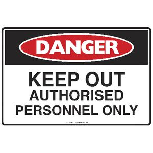 Mills Display Danger Keep Out Sign 225 x 300mm