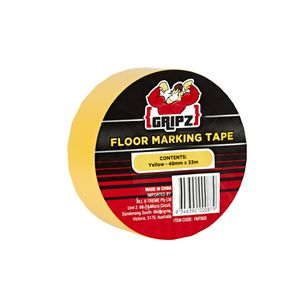 Gripz Floor Marking Tape 48mm x 33m Yellow