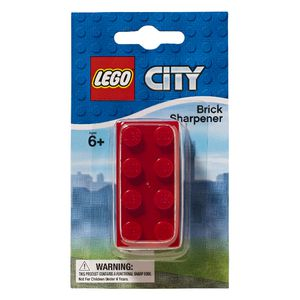 LEGO City Brick Sharpener Assorted Colours