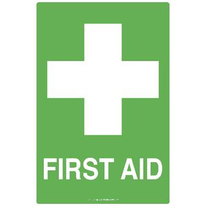 Mills Display First Aid Sign 225 x 300mm