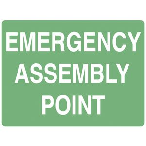 Mills Display Emergency Assembly Point Sign 225 x 300mm