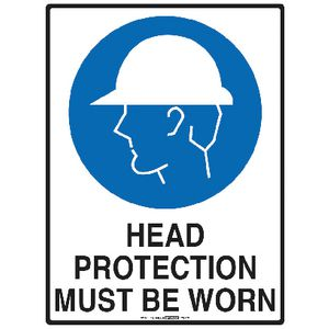 Mills Display Head Protection Sign 225 x 300mm