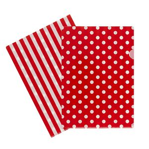 Letter File A4 Single Printed Red Spot
