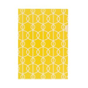 Letter File A4 Single Printed Yellow Circle