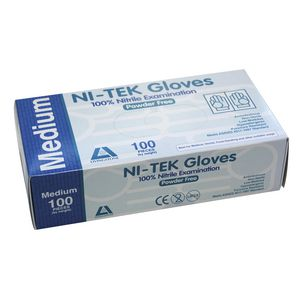 Livingstone Ni-Tek Nitrile Powder Free Glove Medium 100 Pack