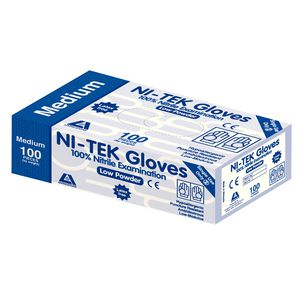 Livingstone Ni-Tek Nitrile Low Powder Glove Medium 100 Pack