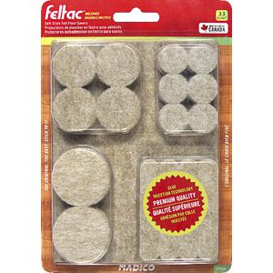 Madico Feltac Self-Stick Felt Floor Savers 33 Pack