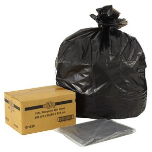 MaxValu Recycled Bin Liners 120L 250 Pack