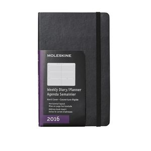Moleskine 2016 Hard Cover Large Weekly Horizontal Diary Black