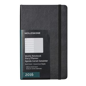 Moleskine 2016 Hard Cover Large Weekly Notebook Black