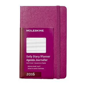 Moleskine 2016 Hard Cover Pocket Daily Diary Mauve Purple