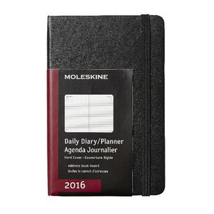 Moleskine 2016 Hard Cover Large Daily Diary Black