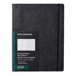 Moleskine 2016 Soft Cover Extra Large Weekly Notebook Black