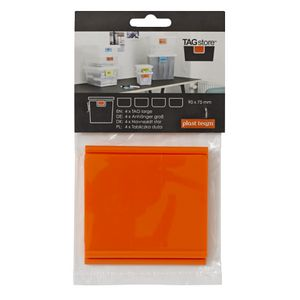 Pk 4 Tagstore Large Tag Orange