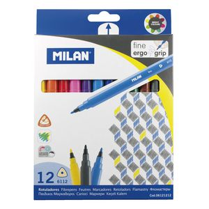Milan Triangular Fine Tip Pens 12 Pack