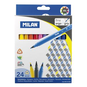 Milan 6112 Triangular Felt-tip Pens Pack/24