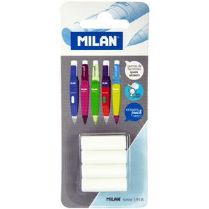 Milan Spare Erasers for Capsule Mechanical Pencils 4 Pack