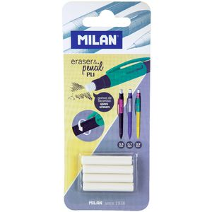 Milan Spare Erasers for PL1 Touch Mechanical Pencils 4 Pack