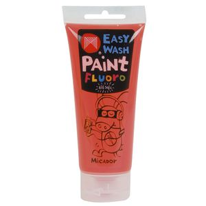 Micador Easy Wash Paint 120mL Fluoro Orange