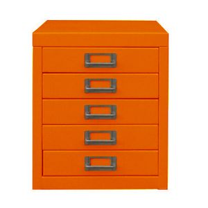 Spencer Limited Edition 5 Drawer Cabinet Orange