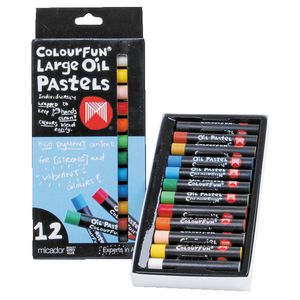 Micador Colourfun Large Oil Pastels Pack/12