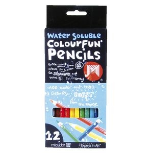 Micador Water Soluble ColourFun Pencils 12 Pack