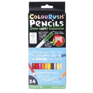 o Micador Colourfun Extra Wide Coloured Pencils Pk/24