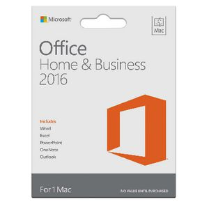 Microsoft Office Home and Business 2016 1 Mac Card