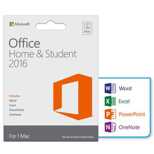 Microsoft Office Home and Student 2016 1 Mac Card