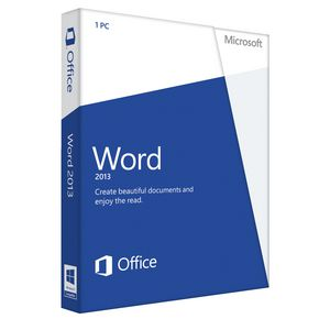 Microsoft Office Word 2013 1 PC Box