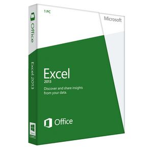 Microsoft Excel 2013 Spreadsheet Software for 1 PC