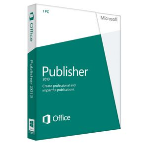 Microsoft Office Publisher 2013 1 PC Box