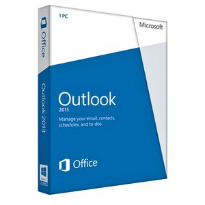 Microsoft Office Outlook 2013 1 PC Box