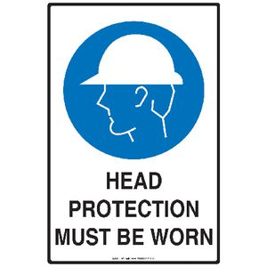 Mills Display Head Protection Sign 300 x 450mm
