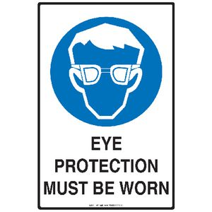 Mills Display Eye Protection Sign 300 x 450mm