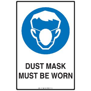 Mills Display Dust Mask Sign 300 x 450mm