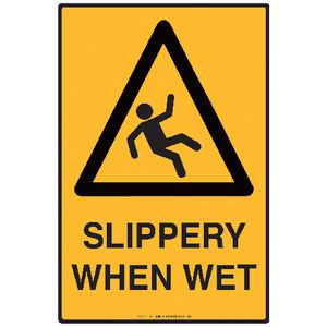 Mills Display Slippery When Wet Sign 300 x 450mm