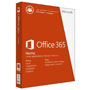 Microsoft Office 365 Home 5 PC/Mac & 5 Tablets 12 Months Box