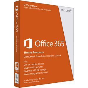 Microsoft Office365 Home Premium - 1 Year