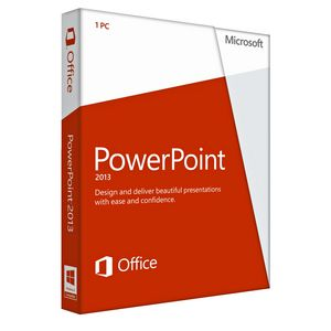 Microsoft PowerPoint 2013 Presentation Software for 1 PC