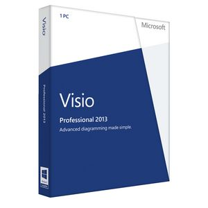 Microsoft Office Visio Pro 2013 1 PC Box