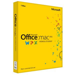 Microsoft Office Home & Student 2011 1 Mac Box