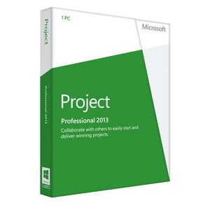 Microsoft Project Professional 2013 Software for 1 PC