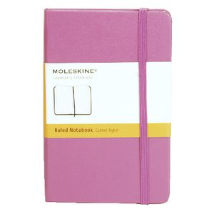 Moleskine Classic Hard Cover Ruled Pocket Notebook Magenta