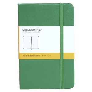 Moleskine Classic Hard Cover Ruled Pocket Notebook Green