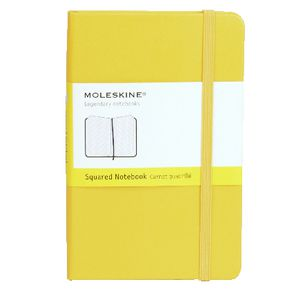 Moleskine Hard Cover Squared Notebook Yellow